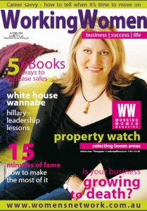 Wnedy Chamberlain is the Working Women magazine march 2008 cover girl