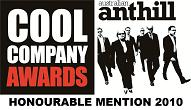Anthill Cool Company Awards 2010