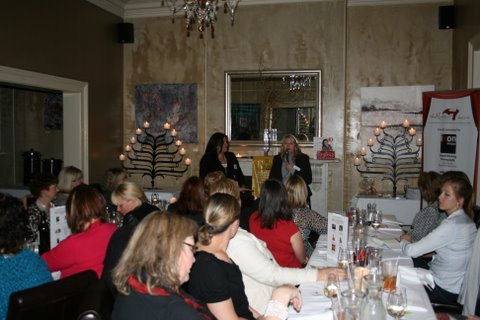Wendy Chamberlain speaking at a networking event