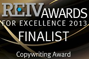 REIV Awards Finalist 2013 for copywriting