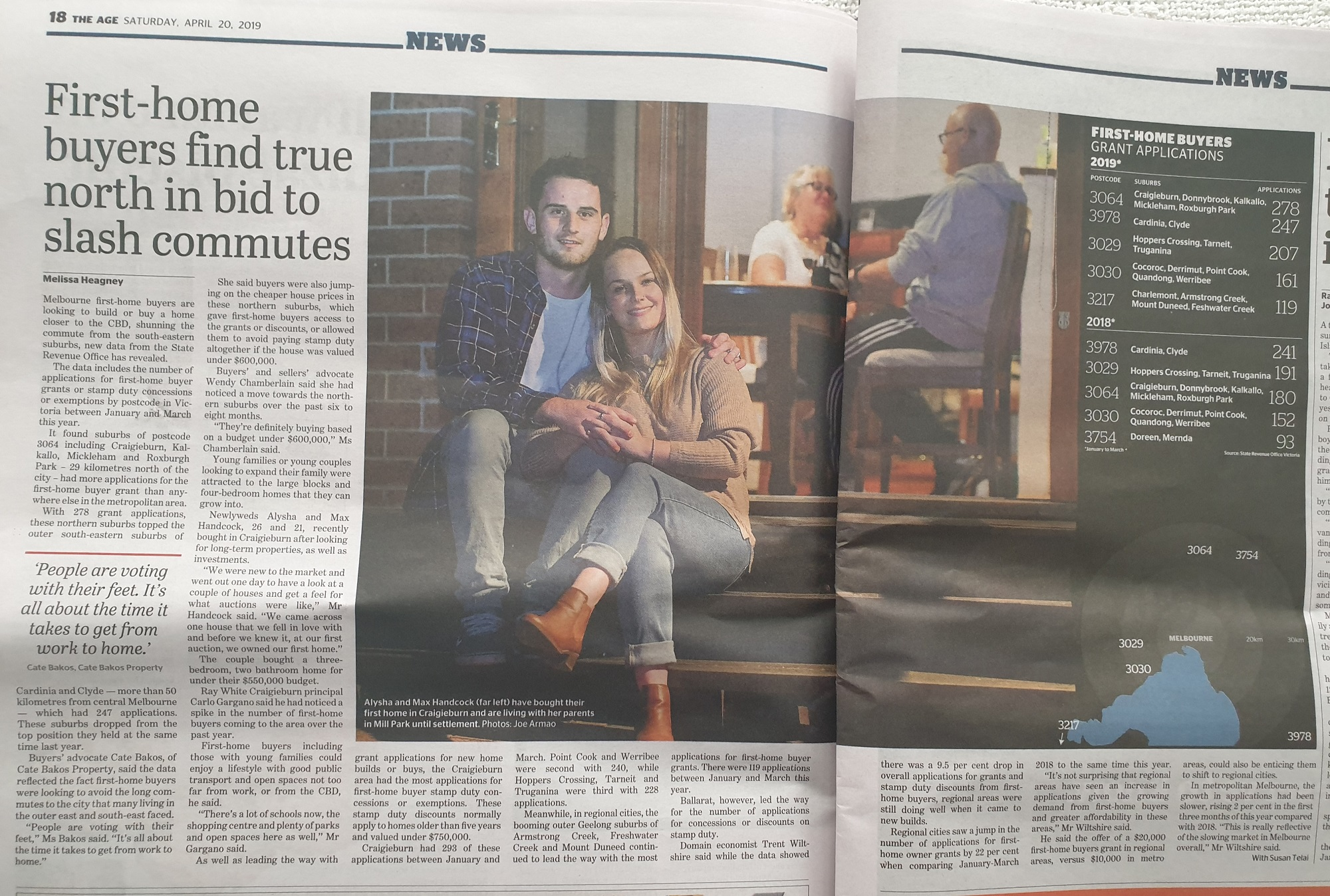 Wendy Chamberlain - the saturday age 20 April 2019