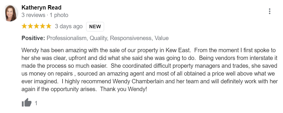 Happy first home buyer client loved working with buyers agent Chamberlain Property Advocates
